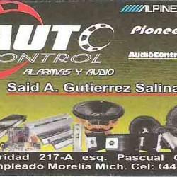 Auto Control Alarmas y Audio img-0