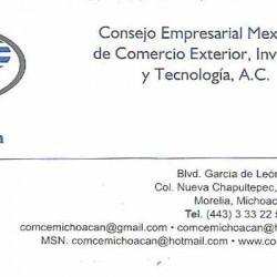 COMCE Michoacán (Consejo Empresarial Mexicano del Comercio Exterior, Inversión y Tecnología A.C.) img-0