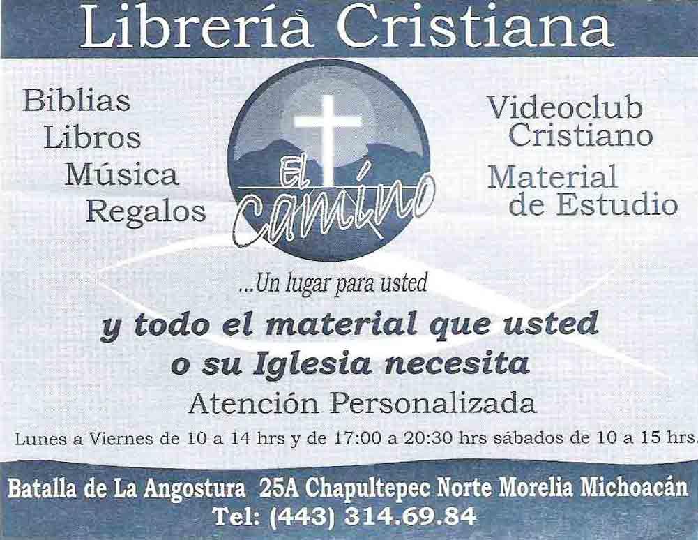 Librer a cristiana el camino en morelia - Librerias cristiana ...