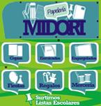 Logo de Papelería Midori